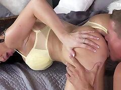 Big fake tits Milf banging in bedroom