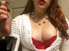 Chubby lary croft xcn xxx Goddess Showing off Big Perky Tits Red Bra and Sweater