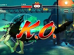 Ryona リョナ Super Street Fighter 4 - Rose vfxxxx move vs Ken nude
