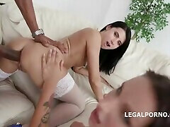 Two Natural Whores - Deep Anal, DP,DAP, Gapes,Creampie to Mouth