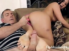 CAUGHT WITH PORN - GODDESS FOOTJOBS