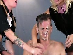 Cuties nail boyfriends anus with monster strapons and squirt