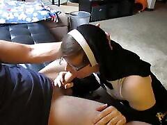 Crossdresser nun in chastity pleases daddy