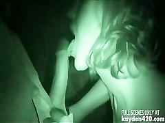 Big tits emo girl nightvision blowjob