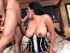 Kiara fucking on a bed wearing fishnet stockings jung porn stiletto high heels