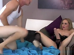 Teens pound guys butt hole with big strapons and splash jism