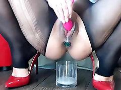 Teaching sissy to smoke Foot Nylon Stockings Fetish