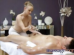 Massage Rooms Cute young woman with all natural petite body Lady Bug fucked