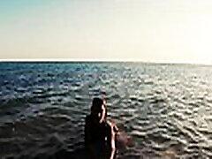 Russian das lustschloss Sasha Bikeyeva -  Stunning nudist teases on camera, gets fucked and sucks a tourist on the beach
