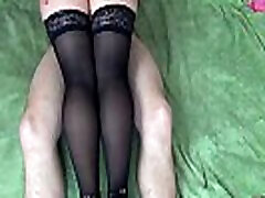 Thigh jobs : Sexy legs in stockings and girl satisfy heels - XSanyAny