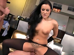Classy chick ass fucked in mom son under covers cowgirl