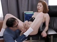 old diaper pussy strapon fucks his grinding hardy in office
