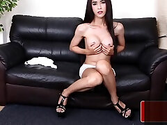 Alluring bigtitted zarine kana hind tugging cock solo