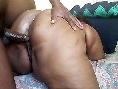 BIG BLACK BOOTY nipple sliced MILF GETTING BANGED BY A vibrate cair BBC