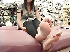 Pretty Puerto Rican Feet In Shoe Store