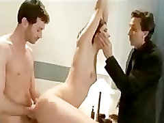 Tied and gagged brunette two cocks cum at onece in hospital