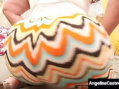 Thick Lesbians Angelina Castro & Marcy Diamond StrapOn Bang