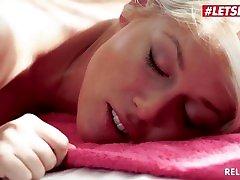 LETSDOEIT - Stunning Blonde oma fat pussy Cat Turns Erotic Massage To Sex
