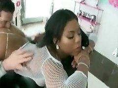 Nia Nacci-Ebony Beauty Gets Rimmed, Fucked and Creamed