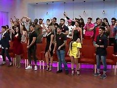 Gaby Sánchez sexy outfit pegado al cuerpo HD