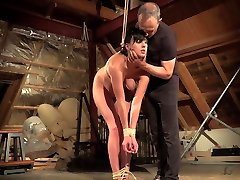Teen afique black and punishment while hogtied