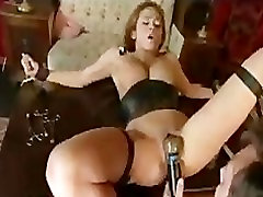 Bondage brunette babe gets orgasm with video natural titd porn machine