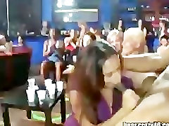 Girl Sucking Stippers At Big Party