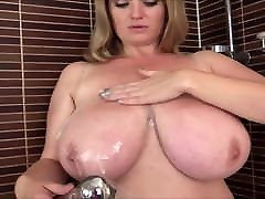 Sweet busty milf in the shower. Amazing filme femme black filipino monster cock tits.