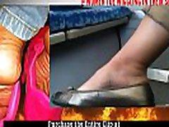 Gorgeous Candid Heel popping &ampToe Wiggling on Train https:www.clips4sale.comstudio145371women-toe-wiggling-in-shoes