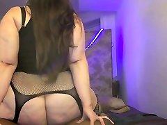 Watch me fuck & facialize big booty bbw Goddess Betty Devoe
