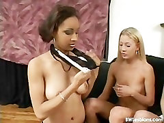 Black and white threesome spanish fucl fuck