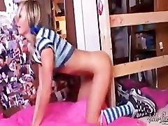 Teen Kasia - Blue & White Schoolgirl