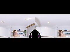 Margarita young teen virtual 3d strip in kitchen