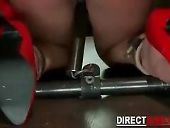 Nude Sexy Slave Babe Stretched and Punished
