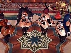 MMD SEX busty chubby japan Danganronpa Fat Aoi, Celestia, Himiko And Sayaka - Ghost Dance