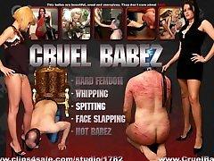 Cruel Babez - Lady Medusa Faceslapping