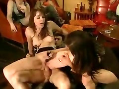 Blonde white whore tied tight with ropes and fucked in gang bonda