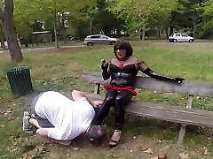 Public shimail fuck training in the park
