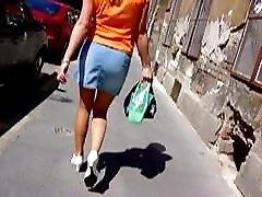 Street voyeure pantyhose MILF legs from the web 002