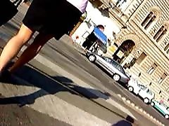 Street voyeure pantyhose MILF legs from the web