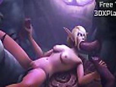 3D Video Game Elf x Worgen Fucking Sound