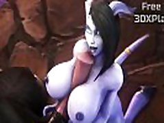 Warcraft Draenei x Tauren Blowjob Sucked Dick Animation Sound