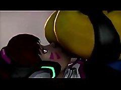 Tracer Facesitting Fart Animation 2b