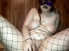 Big titty goth girl loves playing with her self
