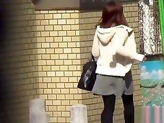 Asian teens threesome oolside on cam
