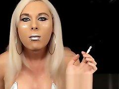 Eva Silver Smoking