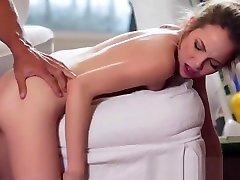Teen maid rough fuck cowgirl, doggystyle, deepthroat, spank