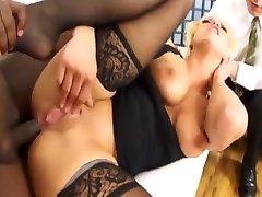 big tit blonde bangs black cock
