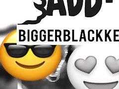 Ebony sucking MR Black his big cock