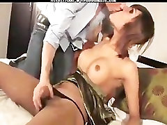 Ladyboy Bareback Riding 14 inc strapon porn shemales tranny porn trannies ladyboy